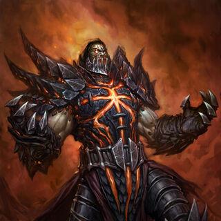 Śmiertelna postać Deathwinga – grafika autorstwa Ranemana.