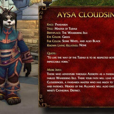 Informacje o Aysie Cloudsinger