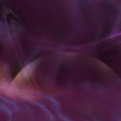 One of the spheres of the Twisting Nether around Outland.