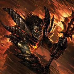 Grafika przedstawiająca ludzką postać Deathwinga.
