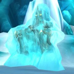 Bolvar the Lich King, sealed inside the Frozen Throne.