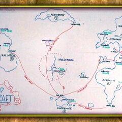 Kezan na mapie świata - materiał z DVD Za Kulisami World of Warcraft