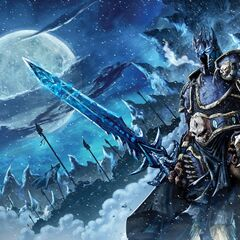 The Lich King on the cover of the unreleased <i><a class=