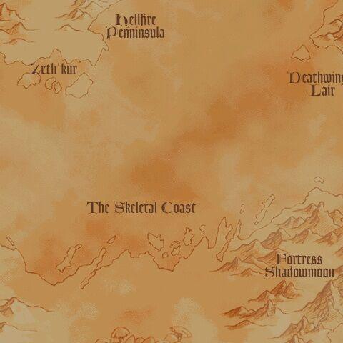 Регион Долины Призрачной Луны до разрушения Дренора.