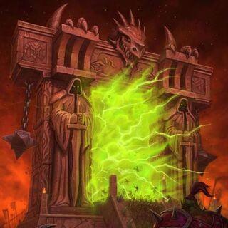 Mroczny Portal widziany na okładce <i><a class=