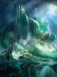 Les géants façonnent les terres et les océans d'Azeroth