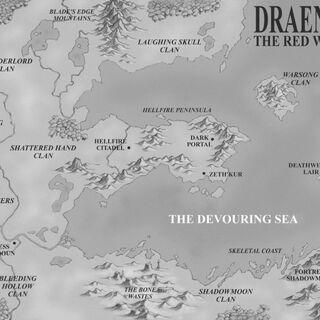 Карта мира Дренор вокруг Темного Портала.