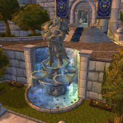 Статуя Вариану снаружи Штормграда