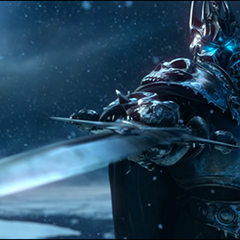 Frostmourne in the WotLK cinematic.