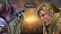 World of Warcraft Battle for Azeroth Sylvanas v. Anduin Key Art