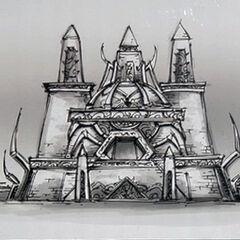 Постройка нерубианцев.В архитектуре нерубов проглядываются элементы архитектуры киражей.