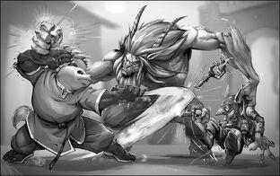 WoW RPG Pandaren vs Satyr by joe vriens