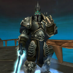 The Lich King clenching his fist.