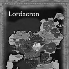 Карта Лордерона в <i>Lands of Conflict</i>.