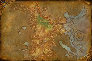 Südliches Brachland Karte