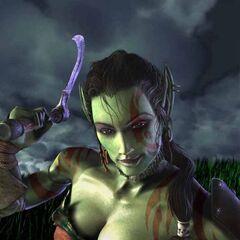 Раннее изображение Гароны в пре-альфа версии Warcraft 3