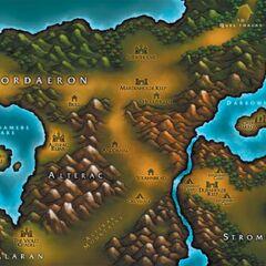 Альтерак на карте Warcraft III.
