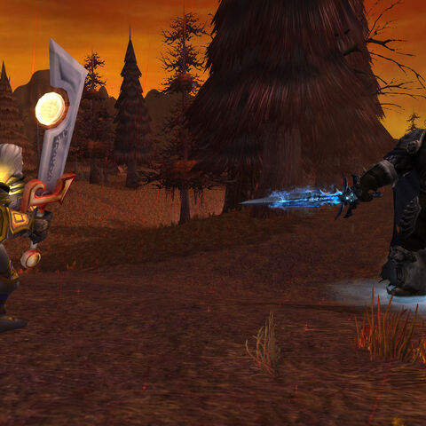 Tirion confronts Arthas at Light's Hope Chapel.