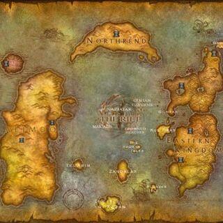 Представления карты Азерота в WoW.