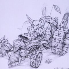 Арт ездового транспорта гоблинов