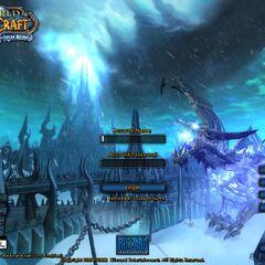 Скриншот экрана ввода пароля в <i>Wrath of the Lich King</i>.