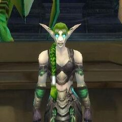 Ysera in her night elf form, as seen in Yogg-Saron's mind chamber (prior to <a href=