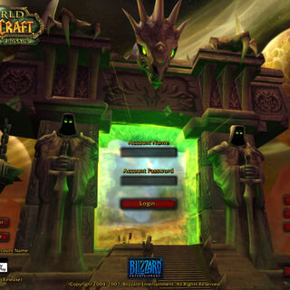 <i>The Burning Crusade</i> Login screen
