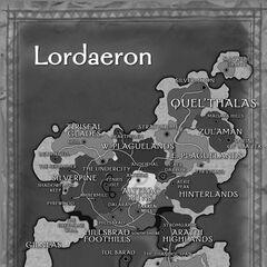 Карта Лордерона в инструкции к <i>World of Warcraft</i>.