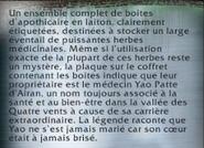 Boîtes d'apothicaire texte