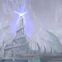 Zamarznięty Tron widoczny na ekranie logowania do <i>Warcraft III: The Frozen Throne</i>