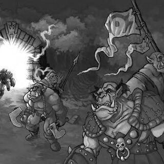 Horda wkraczająca przez Mroczny Portal podczas Pierwszej Wojny