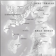 Tol Barad na mapie Wschodnich Królestw z Warcraft 2
