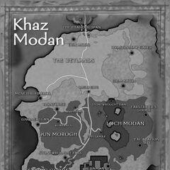 Карта Каз-Модана в <i>Lands of Conflict</i>.