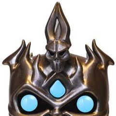 The vinyl Arthas statue by Funko POP.