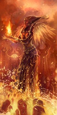 Druide de la flamme Breath-art