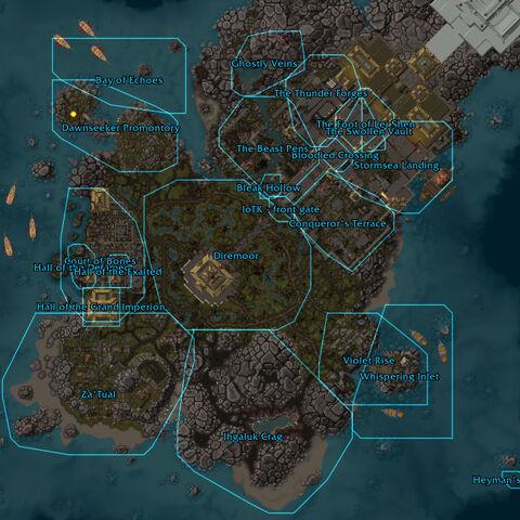 Развернутая карта Острова Грома