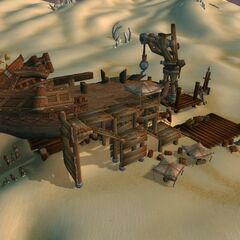 Строющийся корабль