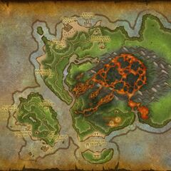 Mapa po wybuchu wulkanu.