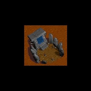 Mroczny portal pojawiający się w grze Warcraft II