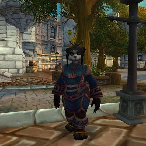 Aysa Cloudsinger w Dzielnicy Katedralnej podczas bety <i>Mists of Pandaria</i>