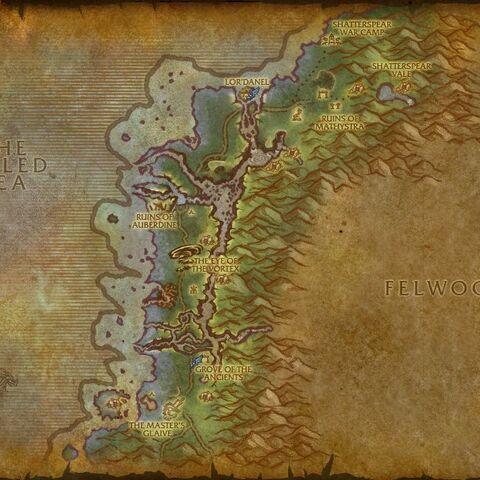 Mapa przed Kataklizmem