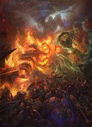 Forgés par les Titans combattent les seigneurs élémentaires