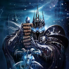 The Lich King with Frostmourne.