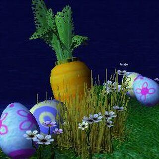 Участок с Пасхальными яйцами