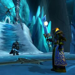 Tirion challenges Arthas at the <a class=