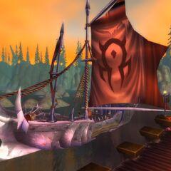 Przycumowany statek Hordy