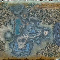 Карта Ямы Сарона