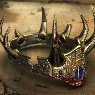 Окровавленная корона Теренаса после его смерти в <i>Warcraft III</i>.