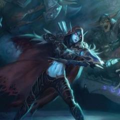Сильвана в битве против Артаса <a href=