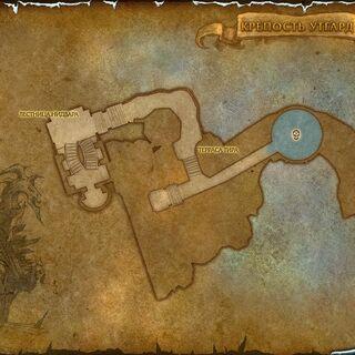 Карта, отображающая Лестницу Нидвара и Террасу Тира